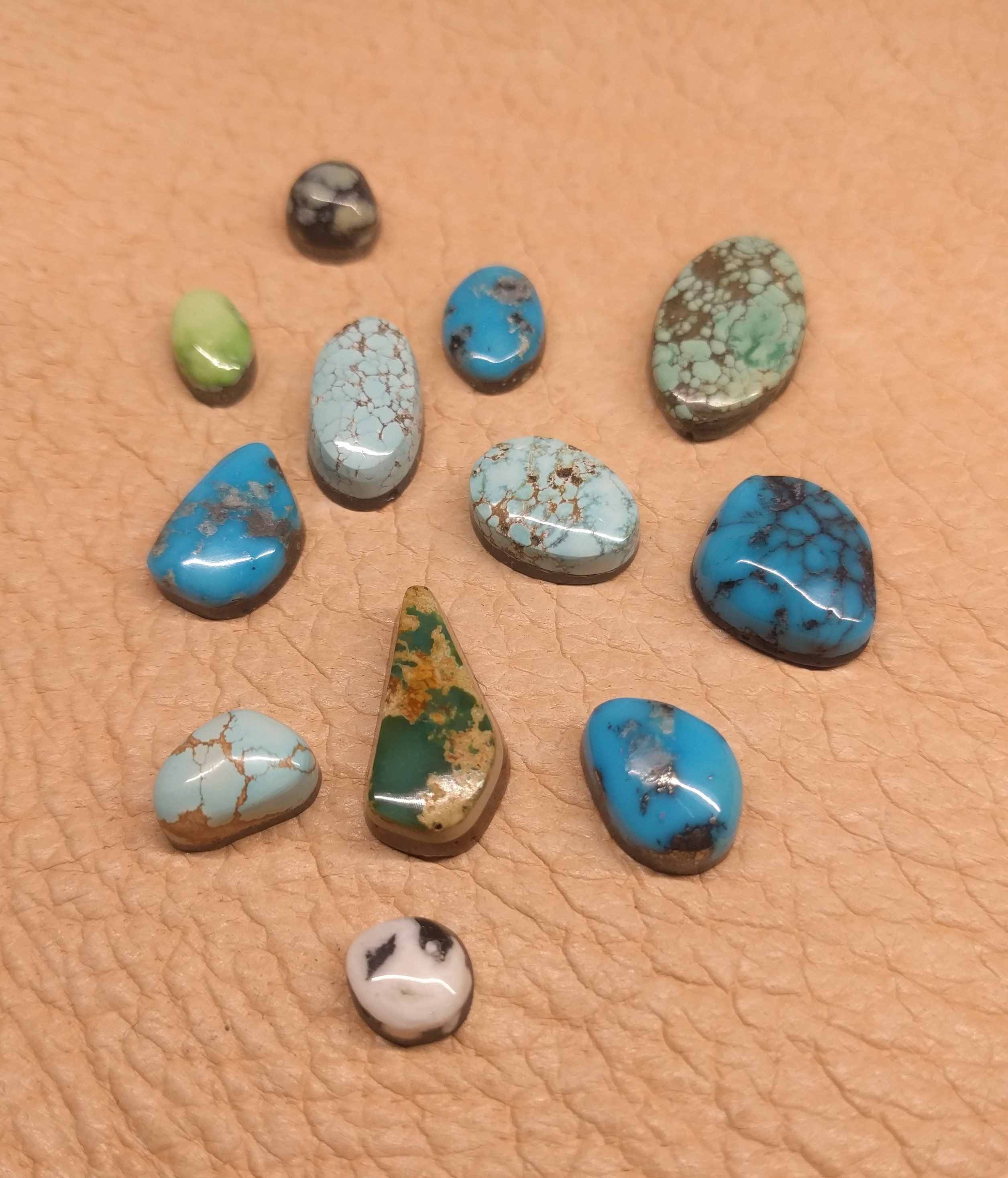 various turquoise